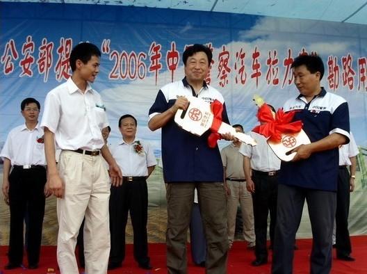 武汉bob体育软件app官网最新版下载为中国警察拉力赛提供堪路车在蔡甸交接